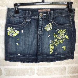 Women's size 9 Candies Denim mini skirt